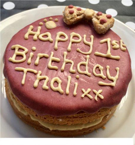 Dog Birthday Cake Girl