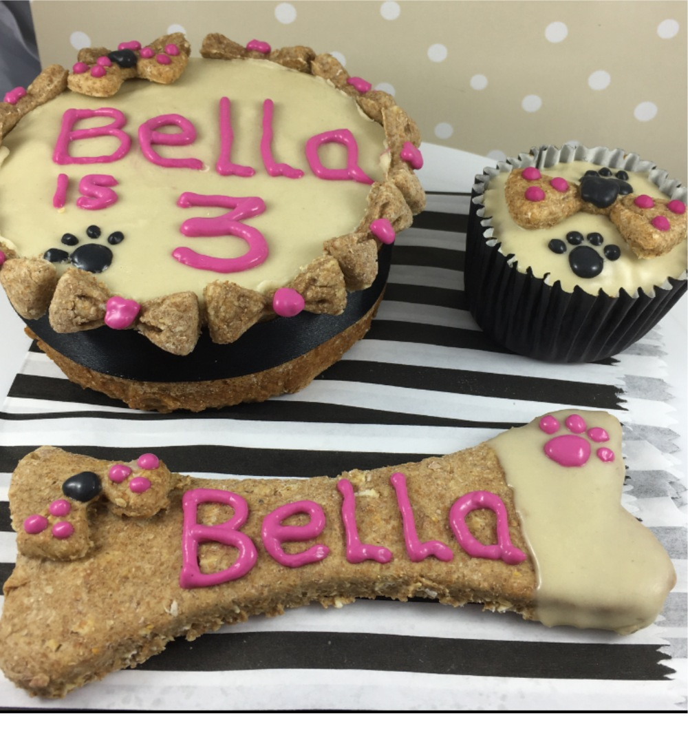 Dog Birthday Hamper Personalised Cake Large Biscuits