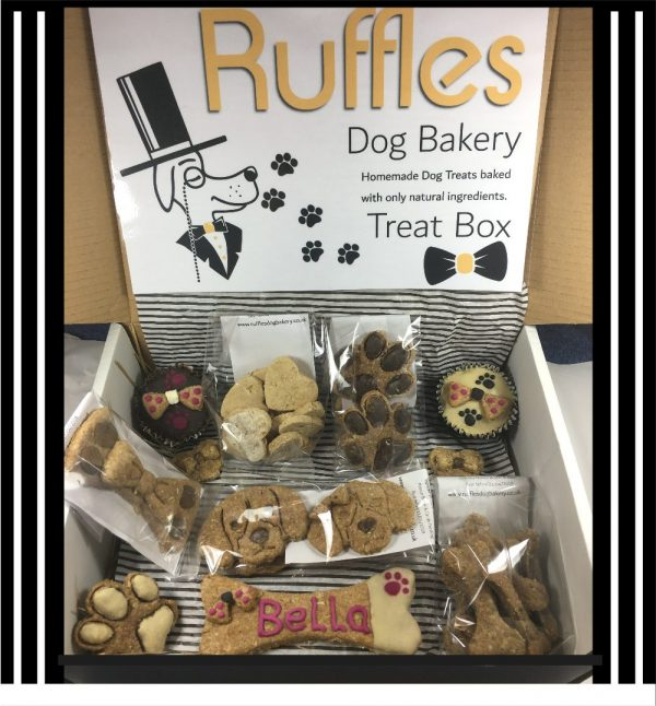 Ruffles Dog Treat Box